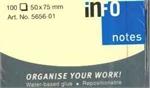 INFO NOTES 50X75CM 100 FEUILLES JAUNE